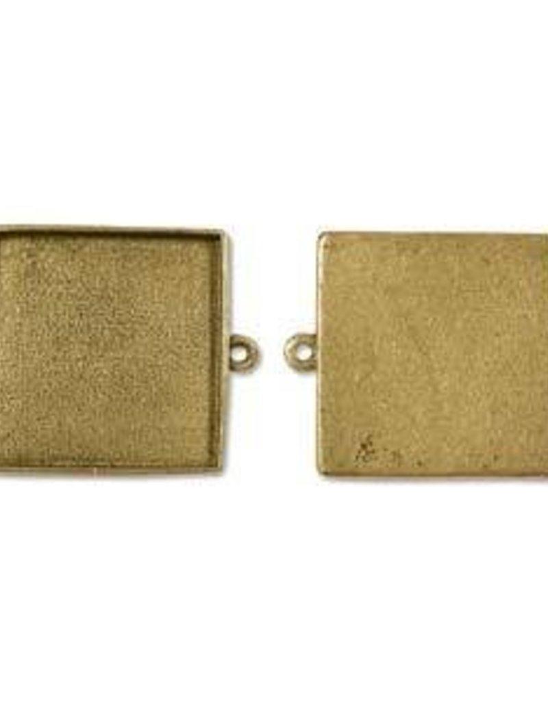 "1 PC AGP 24x41.7mm Grande Square Link ID 1.25"""