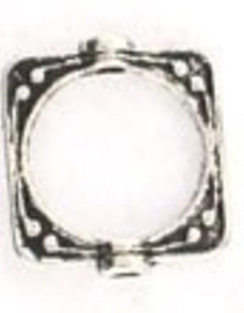 10 PC ASP 16x14mm Square Frame Bead