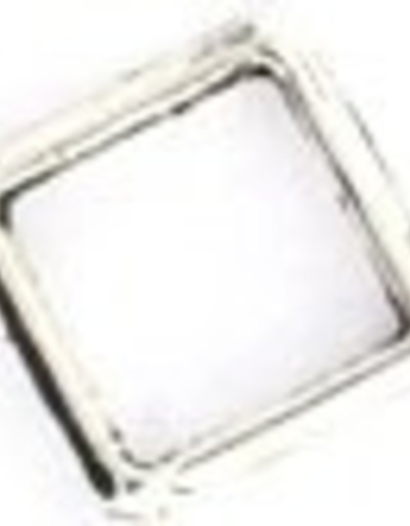 10 PC ASP 15mm Diamond Frame Bead