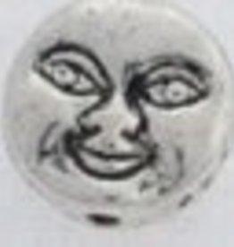 10 PC ASP 8x3mm Moon Face Bead