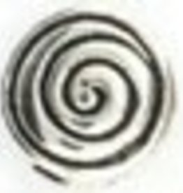 10 PC ASP 8mm Spiral Coin Bead