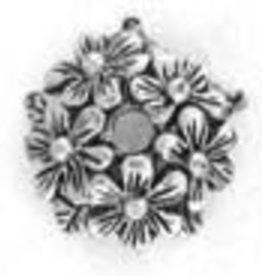 10 PC ASP 12x4mm Floral Bead Cap