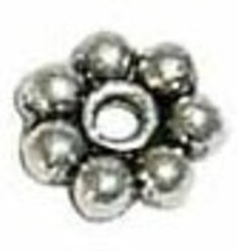 25 PC ASP 5mm Daisy Spacer Bead