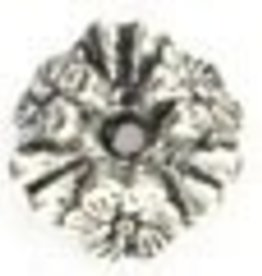 25 PC ASP 10x4mm Wavy Flower Spacer Bead