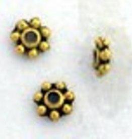 25 PC AGP 4mm Daisy Spacer Bead