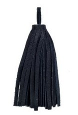 "1 PC 3"" Large Nappa Leather Tassel : Black"