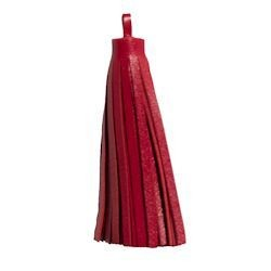 """1 PC 3"""" Large Nappa Leather Tassel : Red"""