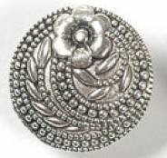 1 PC ASP 17x6mm Flower & Vine Button