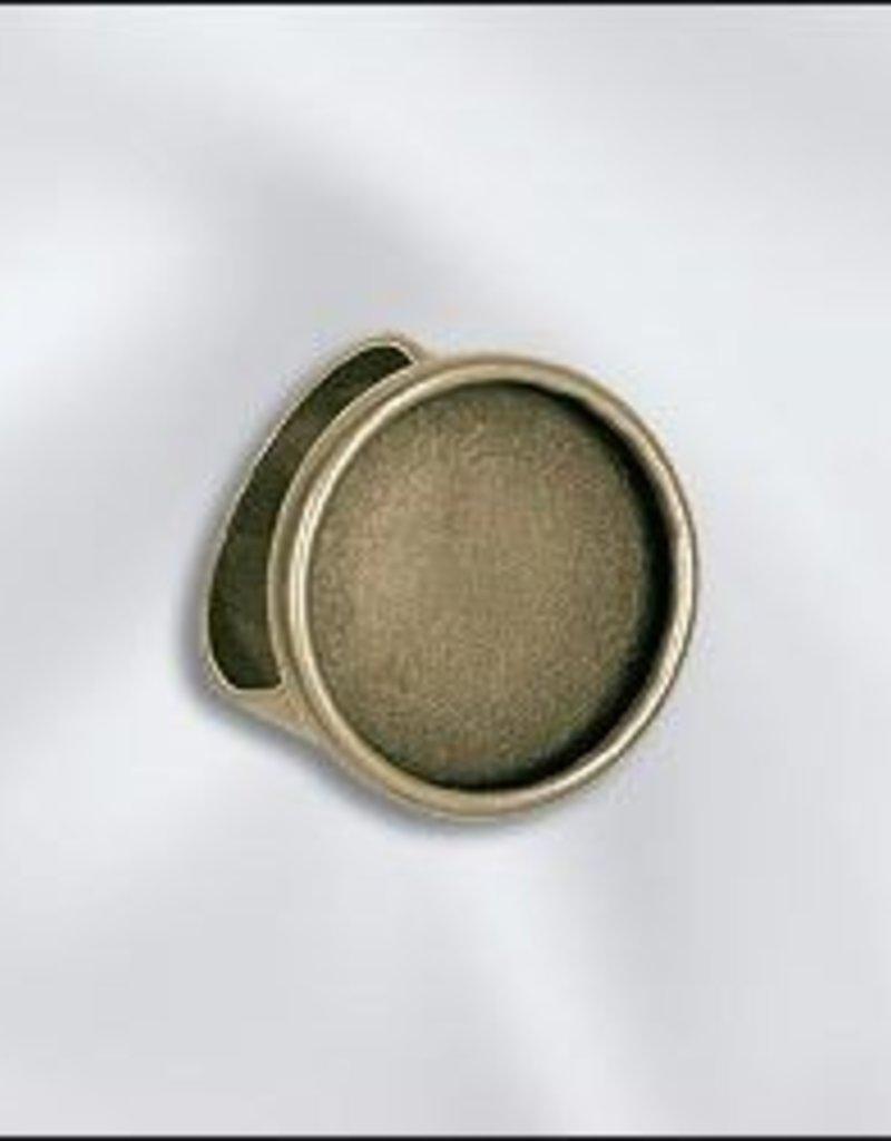 1 PC ABP 18mm Round Bezel Setting Adjustable Ring