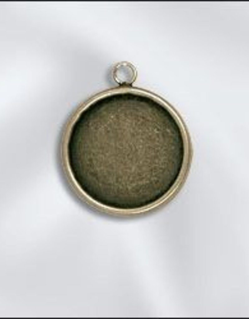 1 PC ABP 18mm Round Bezel Setting Pendant