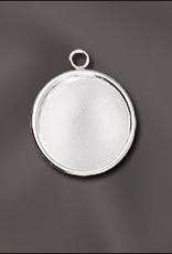 1 PC SP 18mm Round Bezel Setting Pendant