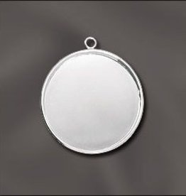 1 PC SP 30mm Round Bezel Setting Pendant