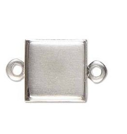 1 PC ASP 15mm Square Stamped Link
