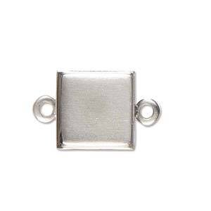 1 PC ASP 10mm Square Stamped Link