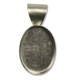 1 PC ASP 18mm Oval Stamped Pendant