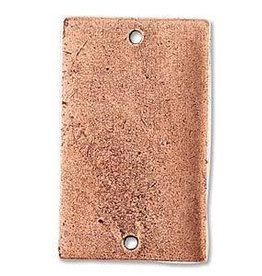 1 PC ACP 32x19mm Large Rectangle 2 Hole Flat Tag