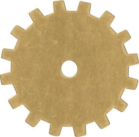 1 PC 24GA 19mm Brass Solid Gear