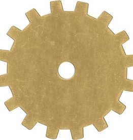 1 PC 24GA 19mm Brass Solid Gear