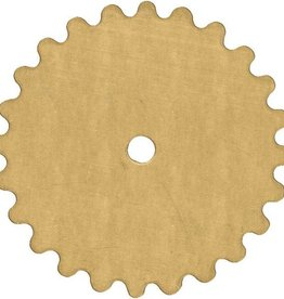 1 PC 24GA 25mm Brass Solid Gear