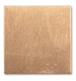 "1 PC 24GA 7/8"" Solid Copper Square Blank"