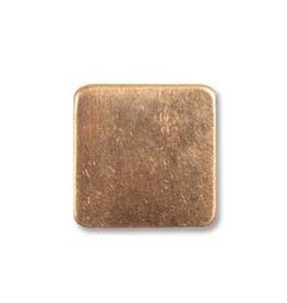 "2 PC 24GA 1/2"" Solid Copper Square Blank"