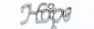 "1 PC ASP 28x14mm ""Hope"" Charm"