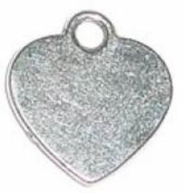 2 PC ASP 16x15mm Heart Stamping Blank Charm