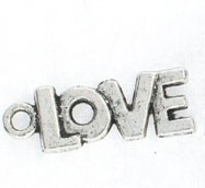 "1 PC ASP 22x8mm ""Love"" Charm"