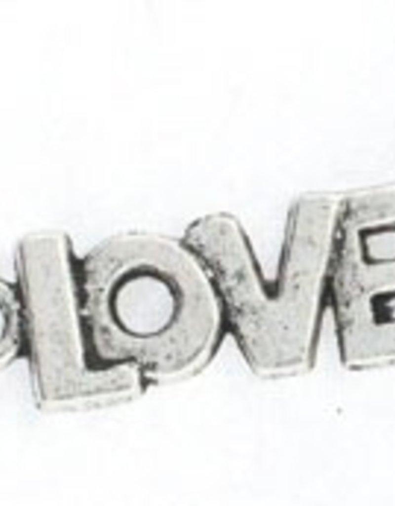 "1 PC ASP 22x8mm ""Love"" Charm"