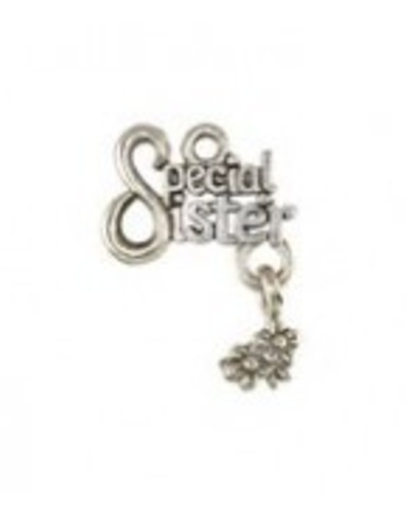 "1 PC ASP 20x15mm ""Special Sister"" Charm"