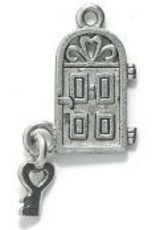 "1 PC ASP 28x16mm ""Home Sweet Home"" Charm"