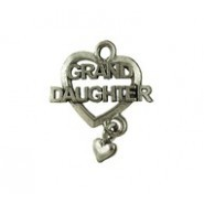 "1 PC ASP 24x19mm ""Grand Daughter"" Charm"
