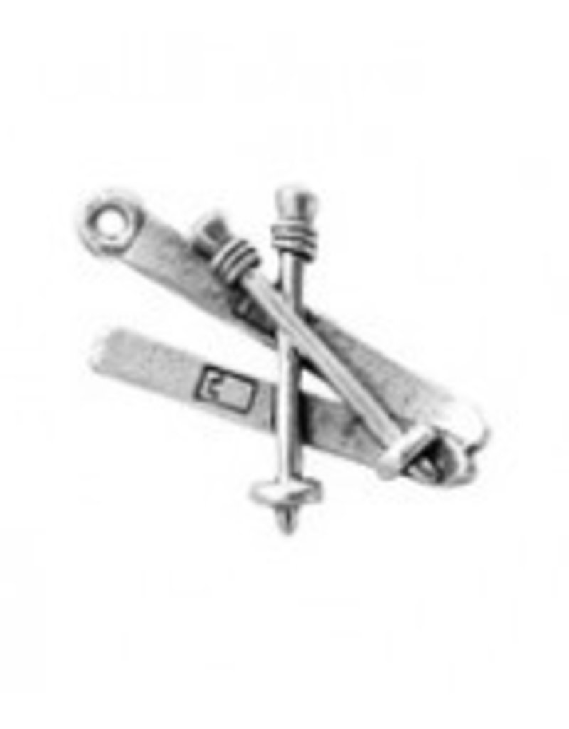 1 PC ASP 26x17mm Skis Charm