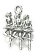 1 PC ASP 22x15mm Ballerinas Charm
