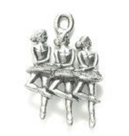 1 PC ASP 22x15mm Ballerinas Charm