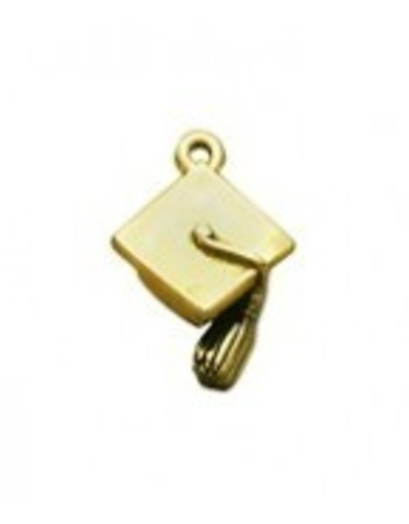 1 PC AGP 22x17mm Graduation Cap Charm