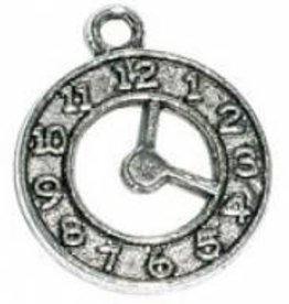 1 PC ASP 21x18mm Clock Charm