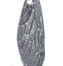 1 PC ASP 40x14mm Insect Wing Charm