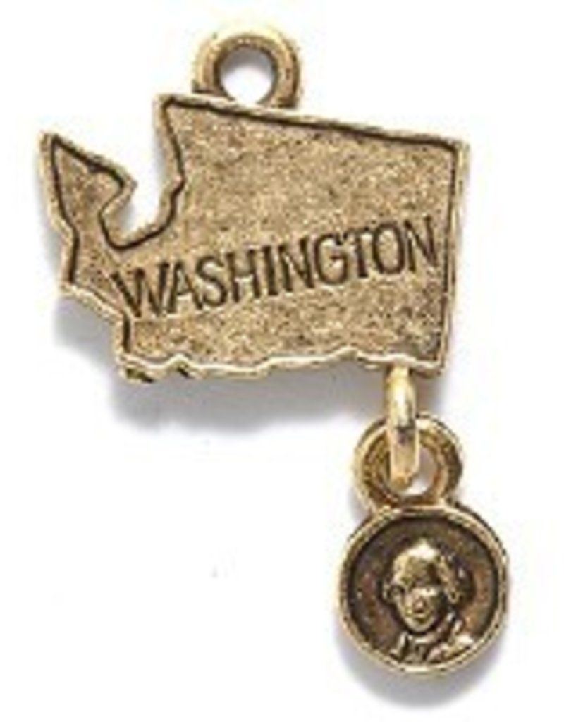1 PC AGP 24x18mm Washington State Charm