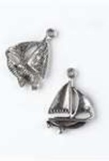 1 PC ASP 23x16mm Sailboat Charm