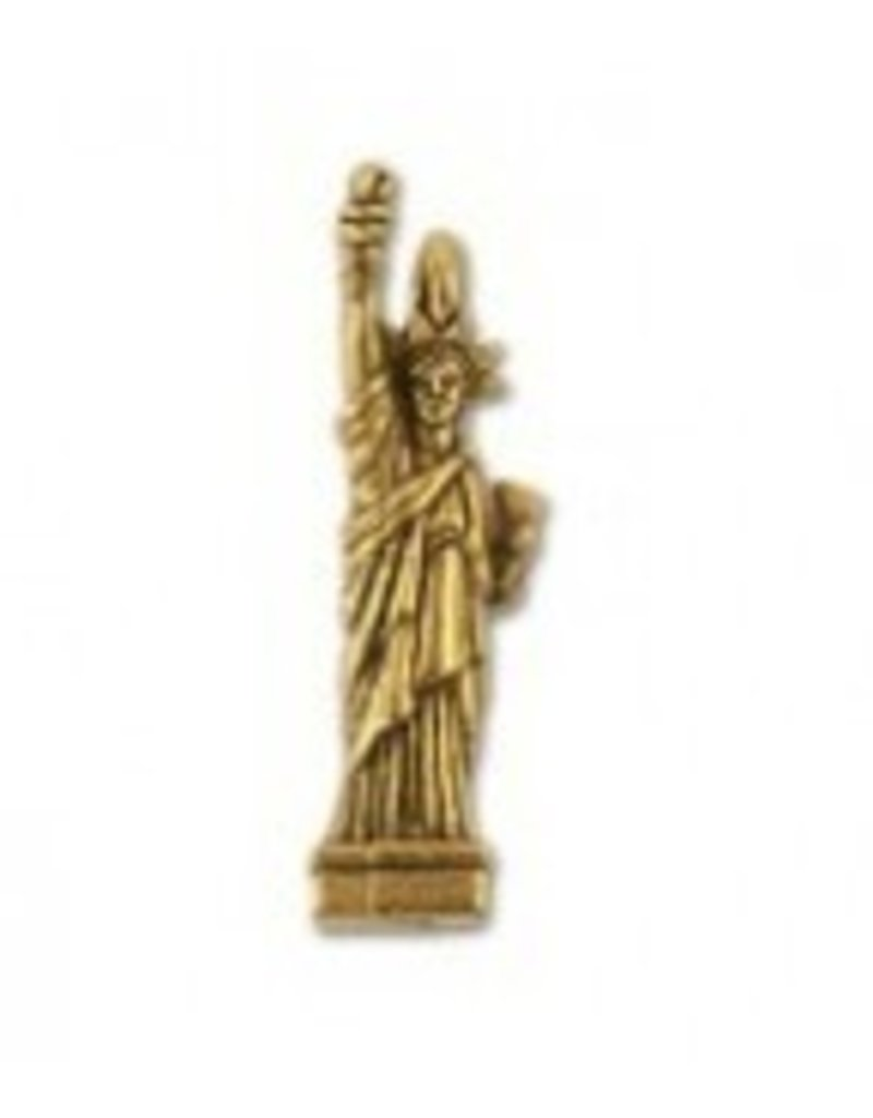 1 PC AGP 25x8mm Statue of Liberty Charm