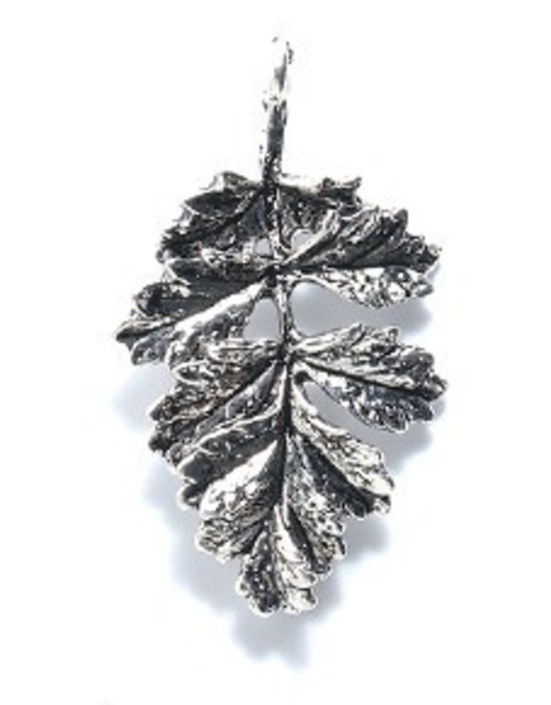 1 PC ASP 30x19mm Sumac Leaf Charm
