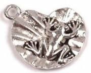 1 PC ASP 20x16mm Frog on Lily Pad Charm