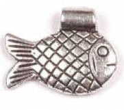 1 PC ASP 21x17mm Hill Tribe Style Fish Charm