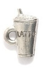 1 PC ASP 14x9mm Latte Cup Charm