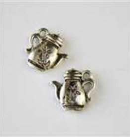 1 PC ASP 13mm Flower Tea Pot Charm