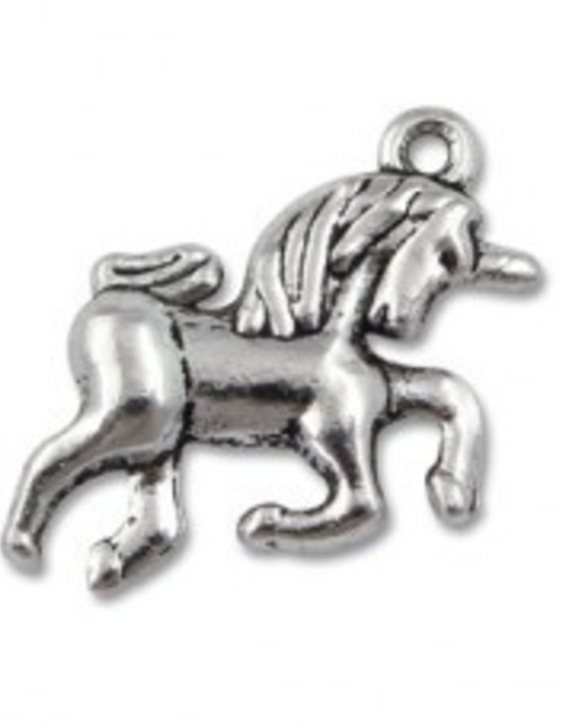 1 PC ASP 15x15mm Unicorn Charm