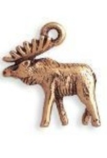 1 PC AGP 19x17mm 3D Moose Charm