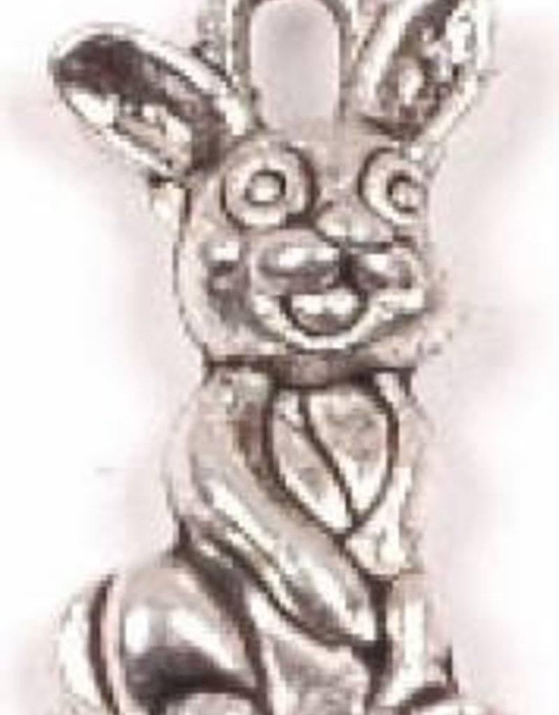 1 PC ASP 18x10mm Bunny Rabbit Charm