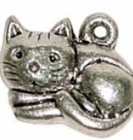 2 PC ASP 13x15mm Sitting Cat Charm